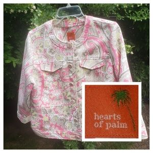 Hearts of Palm Quilted Hot Pink Paisley Jacket